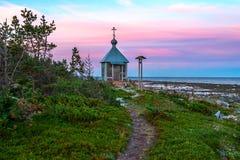 Sommer in der Arktis Schöne Ansichten Kandalakshsky-Bucht im weißen Meer Stockfotos