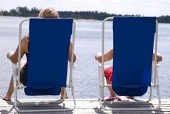 Sommer entspannen sich stockbild