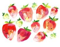 Sommer-Erdbeere Stockfotos
