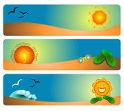 Sommer-Fahnen-Schablonen Lizenzfreie Abbildung