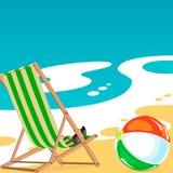 Sommer-Ferien auf dem Strand Stockbild