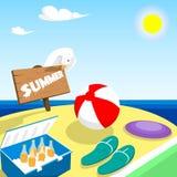 Sommer-Ferien-Brett-Strand-Küsten-Feiertag Stockbilder