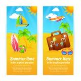 Sommer-Ferien-Fahnen Lizenzfreie Stockfotos