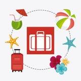 Sommer, Ferien und Reise Lizenzfreies Stockbild