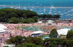 Sommer-Festival an der Seeseite Stockbild