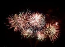 Sommer-Feuerwerke stockfotos