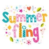 Sommer Fling stock abbildung