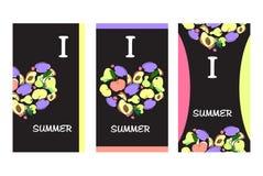 Sommer-Frucht-Fahnen stock abbildung