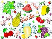Sommer-Frucht-Spaß-Gekritzel-Vektor-Illustration Lizenzfreies Stockbild