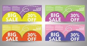 Sommer-große Verkaufs-Fahnen-Sammlung EPS10 vektor abbildung