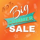 Sommer-große Verkaufsförderung stock abbildung