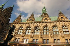 Sommer in Hamburg, Alster Wall Royalty Free Stock Photography