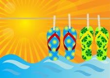 Sommer-Hintergrund Stockfotos