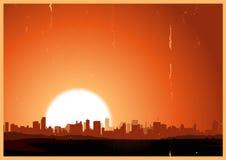 Sommer-Hitze-Landschaft Lizenzfreies Stockbild