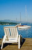 Sommer holiday. Summer holiday at Lake Woerther, Carinthia, Austria stock photo