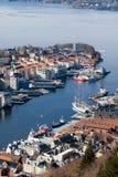 Sommer Idyl in Bergen Lizenzfreie Stockfotos