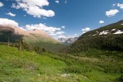 Sommer im Alpenschneehuhn-Tal Stockfotos