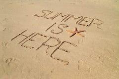 Sommer ist hier stockbild
