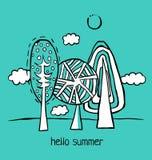 Sommer-Karikatur-Landschaft Lizenzfreie Stockfotos