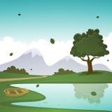 Sommer-Karikatur-Landschaft