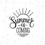 Sommer kommt lizenzfreie abbildung