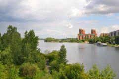 Sommer Krasnoyarsk Landschaft Stockbild