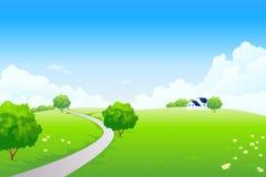 Sommer-Landschaft lizenzfreie abbildung
