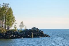 Sommer-Landschaft, der Baikalsee Lizenzfreies Stockfoto
