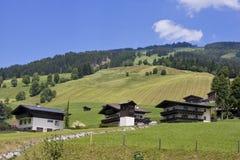 Sommer lanscape in den österreichischen Alpen Lizenzfreies Stockbild