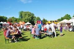 Sommer-Lebensmittel und Getränk-Festival Stockfotografie
