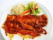 Sommer-Meeresfrüchte-Abendessen stockbilder