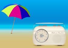 Sommer-Musik auf dem Strand lizenzfreie abbildung