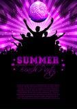 Sommer-Musik-Hintergrund - Vektor Lizenzfreie Stockbilder