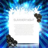 Sommer-Musik-Hintergrund - Vektor Stockfoto
