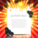 Sommer-Musik-Hintergrund - Vektor Stockbilder