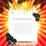 Sommer-Musik-Hintergrund - Vektor Stockbild