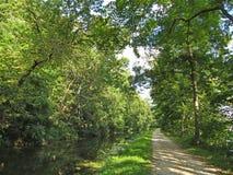 Sommer-Nachmittag auf dem C&O-Kanal Stockbilder