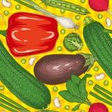 Sommer-nahtloses Muster mit Gemüse stock abbildung