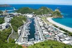 Sommer NAN-FANG-AO (Taiwan-Fischereihafen) Stockfotos