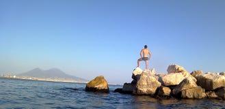Sommer in Napoli stockbild