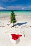Sommer-neues Jahr auf Strand Stockbild