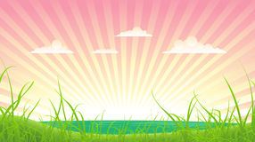 Sommer-oder Frühlings-Ozean-Landschaft Lizenzfreies Stockfoto