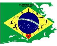 Sommer-Olympische Spiele Stockbild