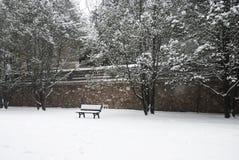 Sommer-Palast im Schnee Lizenzfreie Stockbilder