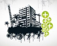 Sommer-Palmen-Stadt Lizenzfreies Stockfoto