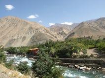Sommer in Panjshir-Tal, Afghanistan Stockbild