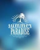 Sommer-Paradiesplakatdesign Lizenzfreies Stockfoto
