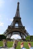 Sommer in Paris - abschließende Zieleinheit lizenzfreie stockfotos