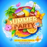 Sommer Partyl-Plakatdesign Lizenzfreies Stockbild