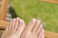 Sommer pedicure Lizenzfreies Stockbild